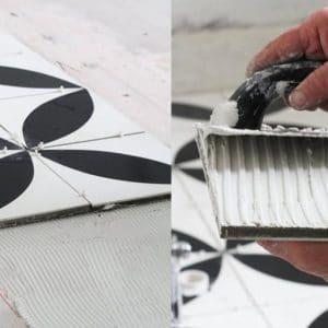 Pose et entretien carreaux de ciment, Pose et entretien carreaux de ciment