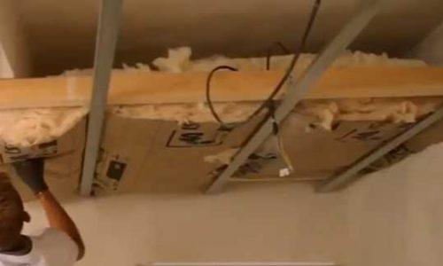 Isolation : poser du placo au plafond